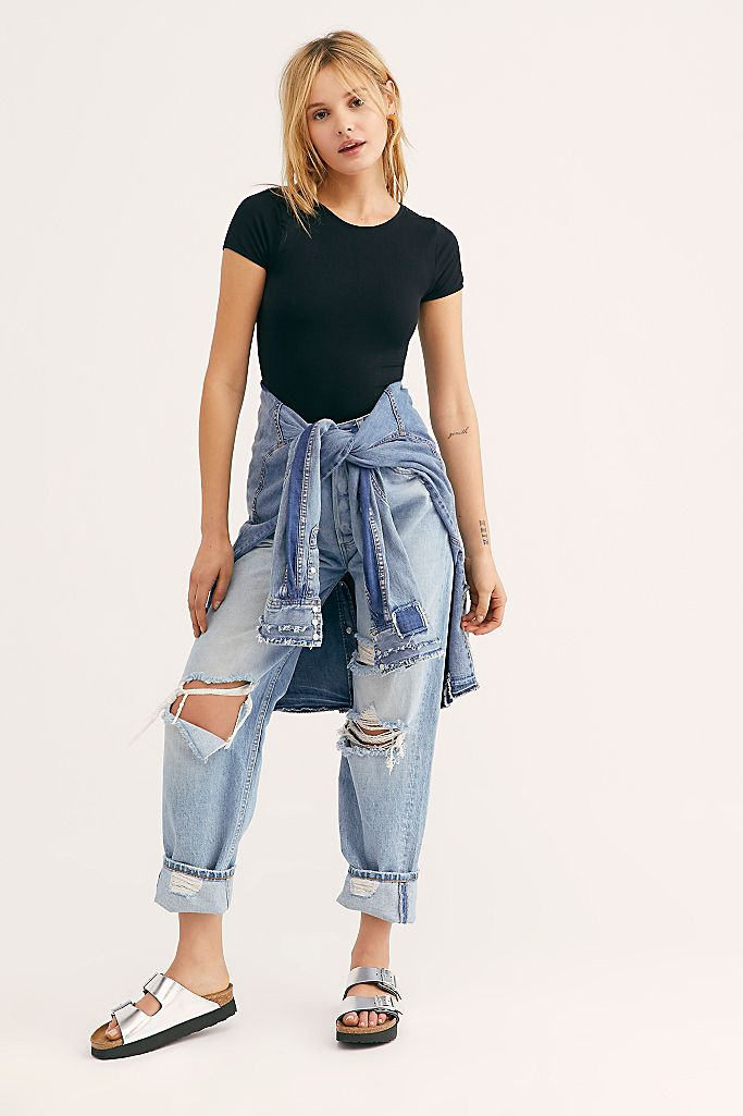 Free People Cap Sleeve Crop Top