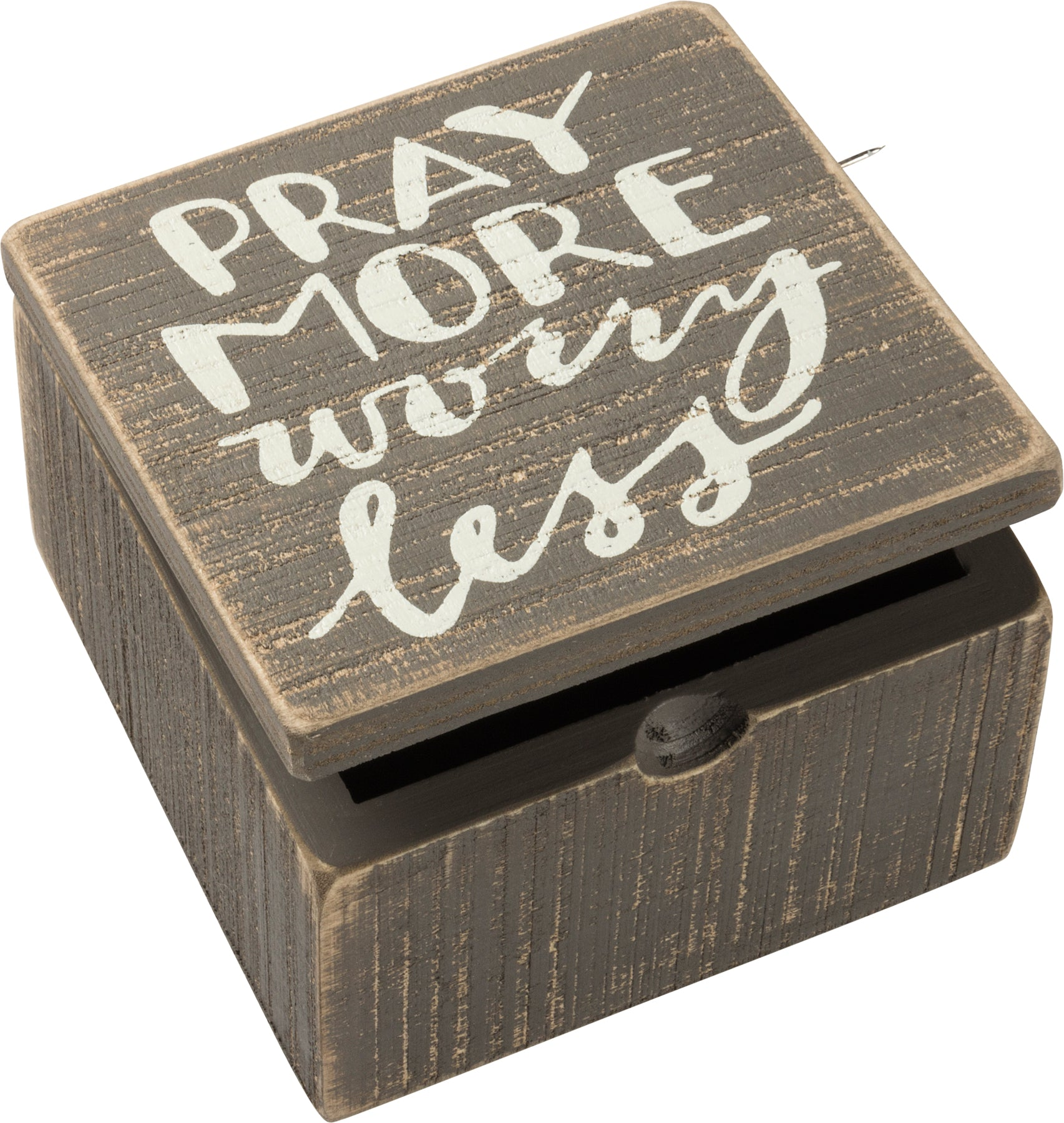 Pray More Worry Less Hinged Box
