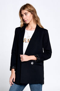 Black Button Blazer