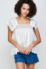 Rosaria White Lace Top