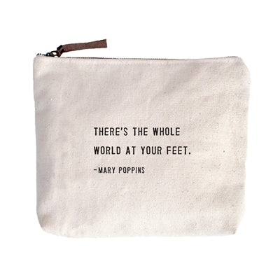 Mary Poppins Canvas Zip Bag