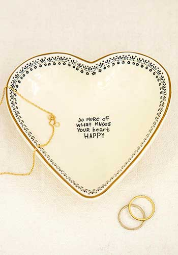 Makes You Happy Heart Trinket Bowl