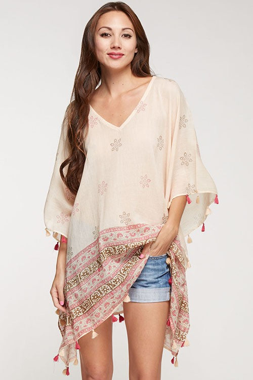 Rose Caftan Coverup