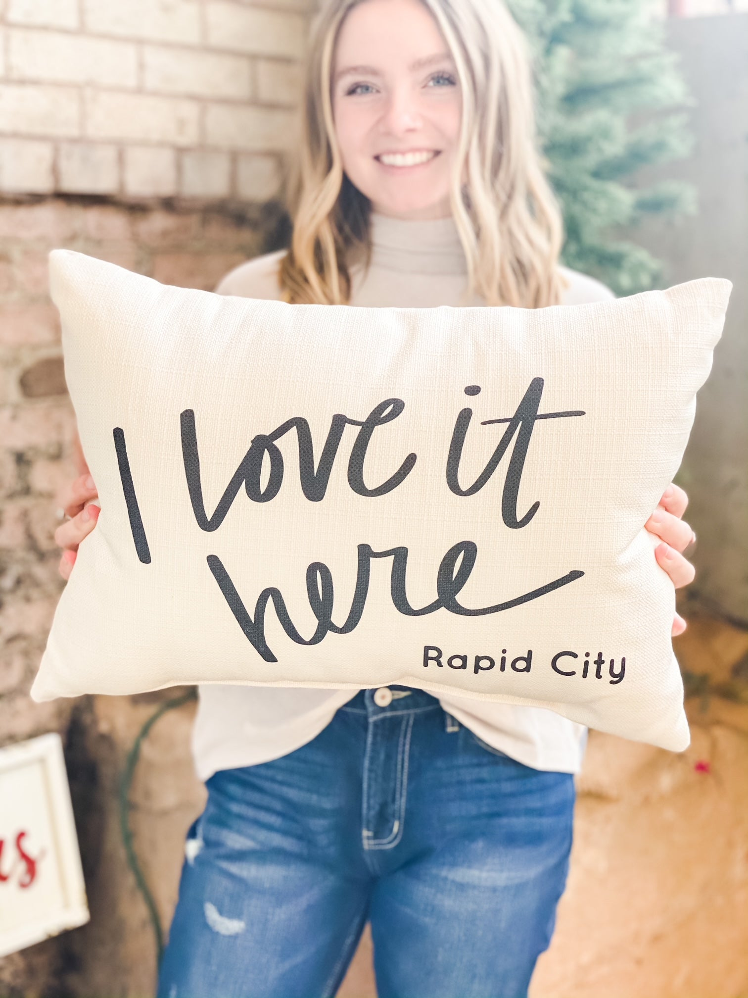 I Love It Here Rapid City Pillow