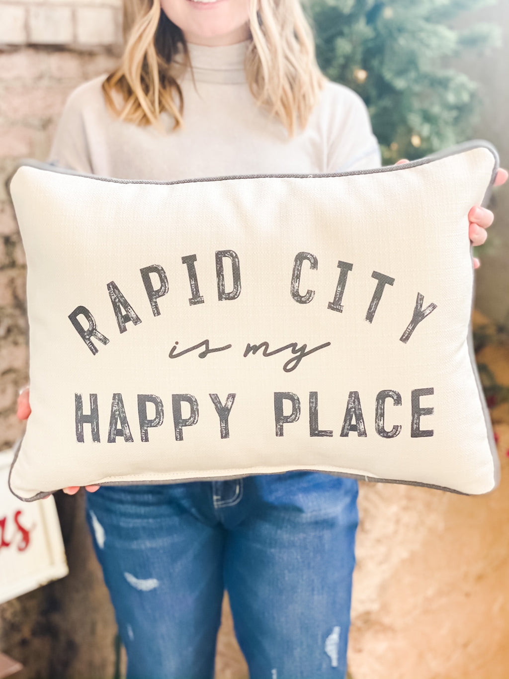Rapid City is My Happy Place Pillow