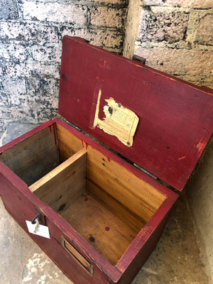 Red Wood Engine Shipping Box