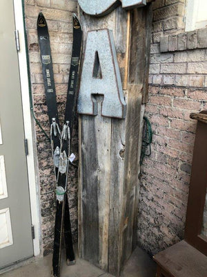Antique Black Snow Skiis