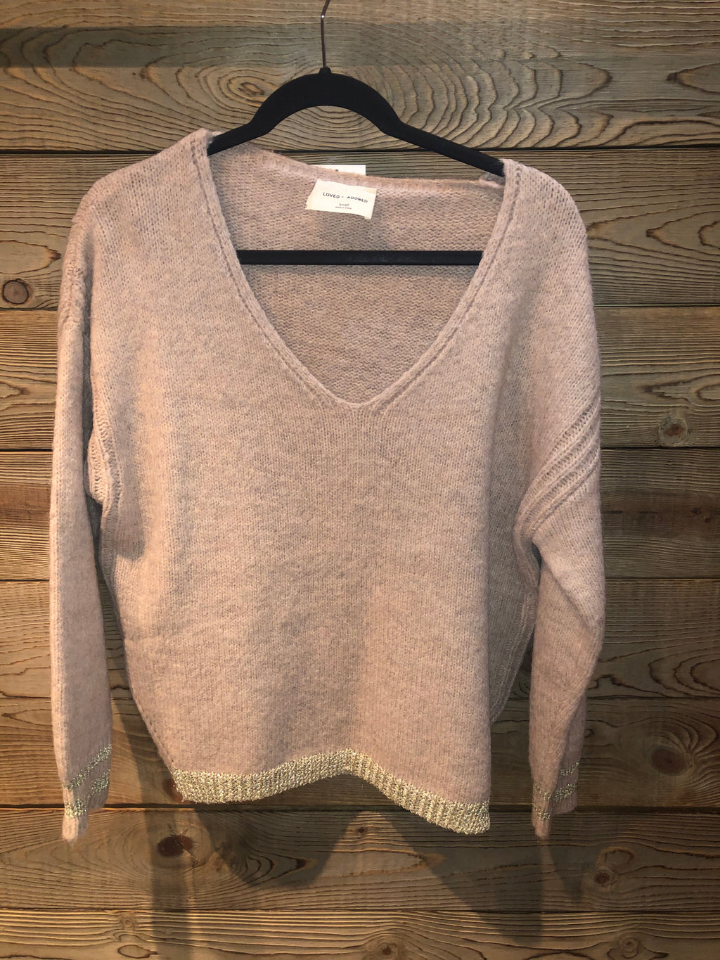 Blush VNeck Sweater