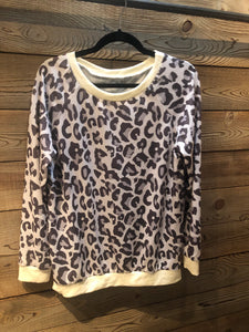 Grey Leopard Top