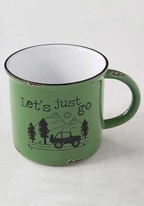 Let's Just Go Camp Mug