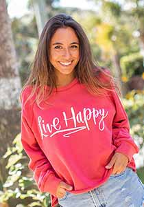 Live Happy Cropped Sweatshirt