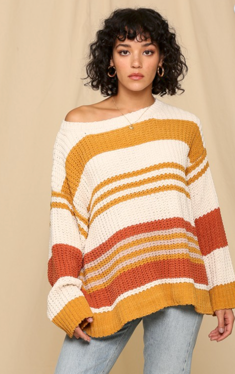 Ivory Camel Sweater