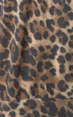 Brown Round Neck Leopard Top