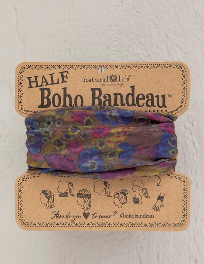 Half Boho Grey Dusty Floral