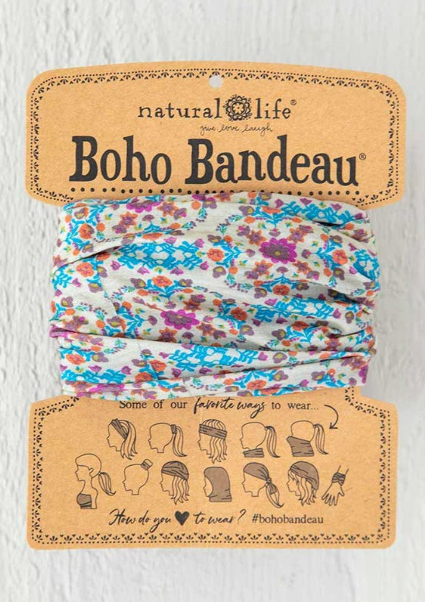 Boho Grey Flower Stamp Bandeau
