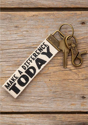 Canvas Key Fobs
