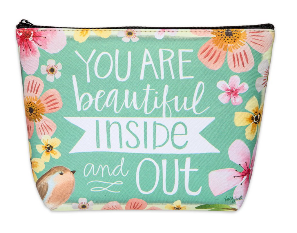 Inside And Out Zippered Cosmetic Bag
