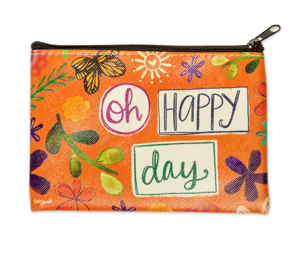 Oh Happy Day Zippered Coin Purse