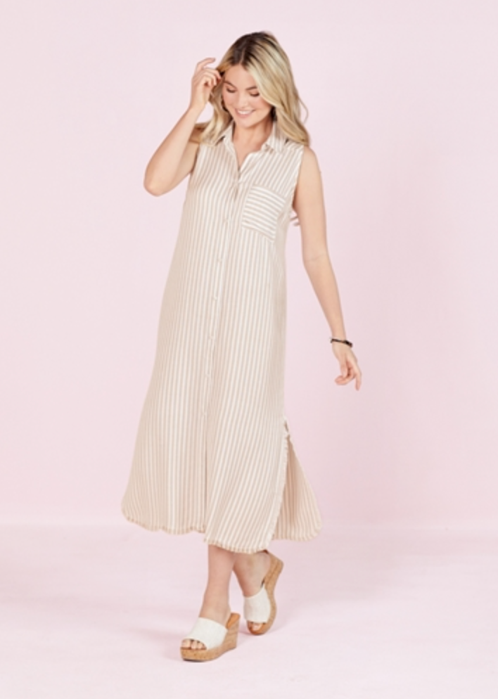 Lou Button Down Dress