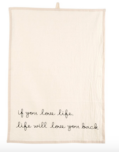 Love Life Tea Towel