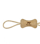 Leather Bone Tug Toy