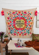Make A Difference Tapestry Blanket