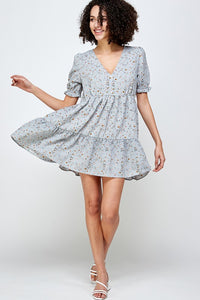 Heather Floral Babydoll Dress