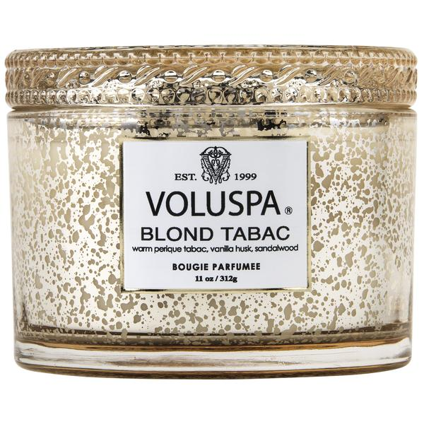 Voluspa Blond Tabac Glass Candle