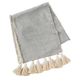 Grey Ponchaa Table Runner