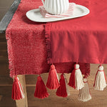 Red Ponchaa Table Runner