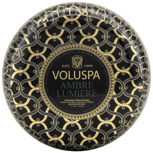 Voluspa 2 Wick Ambre Lumiere Tin