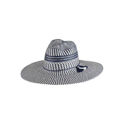 Giovanna Navy Wide Brim Hat