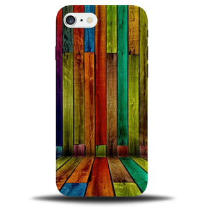 new concept 3c40e f1d93 Dirty Colourful Wooden Design Phone Case   Wood Effect Multicoloured Cover  A819