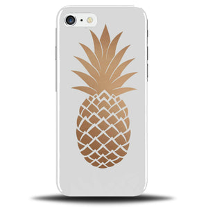 sale retailer d638f c3b60 White and Golden Pineapple Phone Case Cover | Fruit Gold Novelty Cool B344