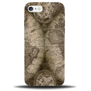 new product d7119 f527a Vintage World Map Atlas Design Phone Case Cover B607