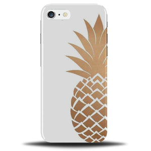 on sale 87697 590f7 Golden Pineapple Phone Case Cover | Gold and White & Fruit Design Outline  C185