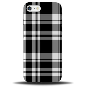 on sale b8e5b 61a9c Black and White Tartan Patterning Phone Case Cover Pattern Gingham  Chequered c295