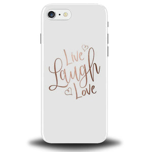 Rose Gold Quote Phone Case Cover Tumblr Live Love Laugh Quotes Heart