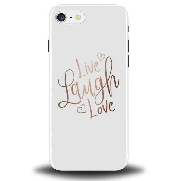 Rose Gold Quote Phone Case Cover Tumblr Live Love Laugh Quotes Heart Hearts  White 467