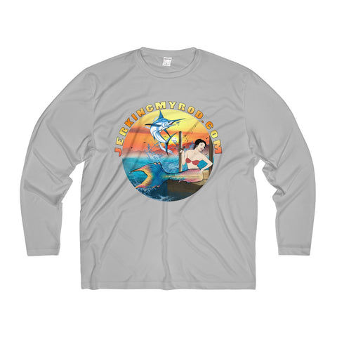 Jerking My Rod Men's Long Sleeve Moisture Absorbing Tee
