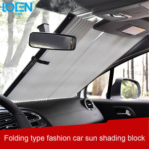 Car Window Sunshade Retractable Foldable Windshield Sunshade Cover Shield Curtain Auto Sun Shade Block Anti-UV Car Window Shade - lowpricebest.com