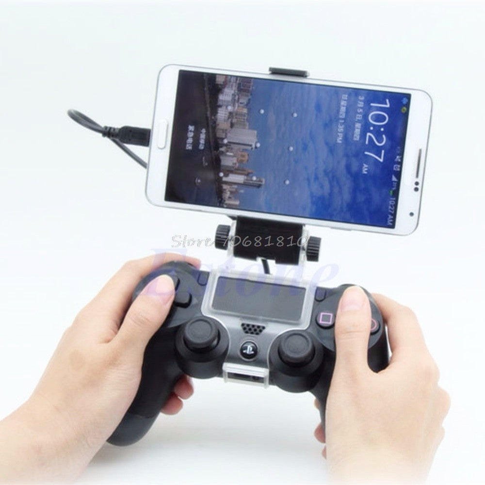Bracket for Smartphone Gaming and your PS4 controller with cable or bluetooth - lowpricebest.com