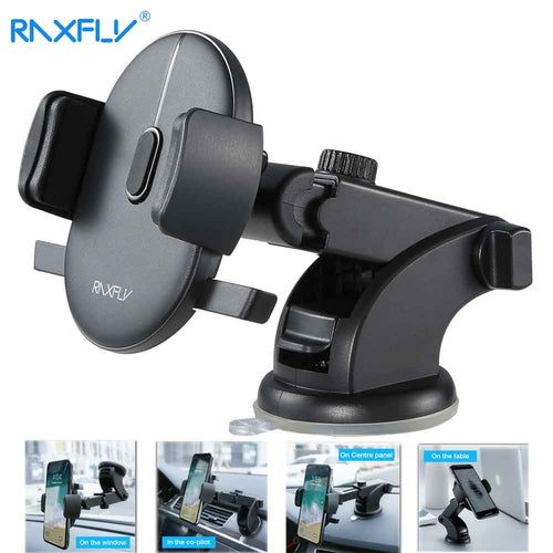 Windshield or Dash Telescopic Arm Rotation Car Phone Holder - lowpricebest.com