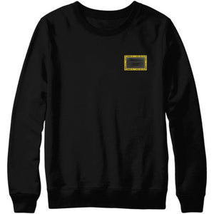 HAMMERS BLACK CREWNECK WITH BLACK LEATHER DETAILS
