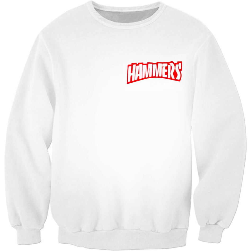 HAMMERS RED SPLASH CREWNECK