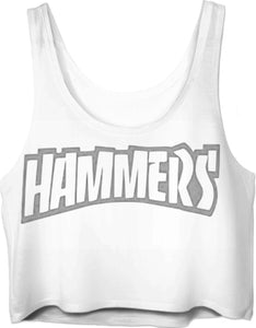 HAMMERS DUSTY GREY CROP TOP