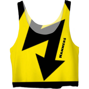 HAMMERS CAPRI YELLOW CROP TOP