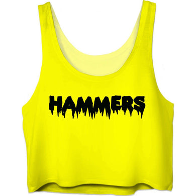 HAMMERS AMALFI YELLOW CROP TOP