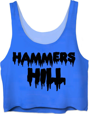 HAMMERS BLUE DRIP CROP TOP