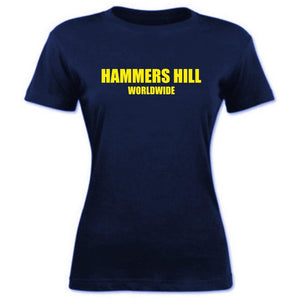 HAMMERS NAVY & YELLOW T-SHIRT - LADIES